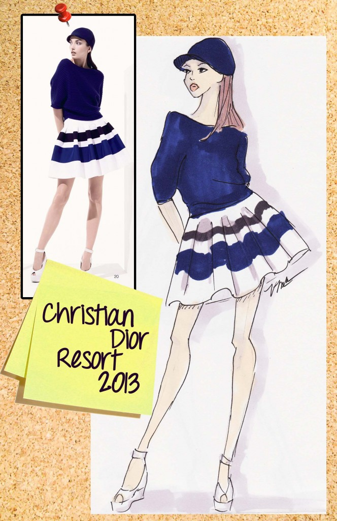 Christian Dior Resort Fashion Illustration by Veronica Marché
