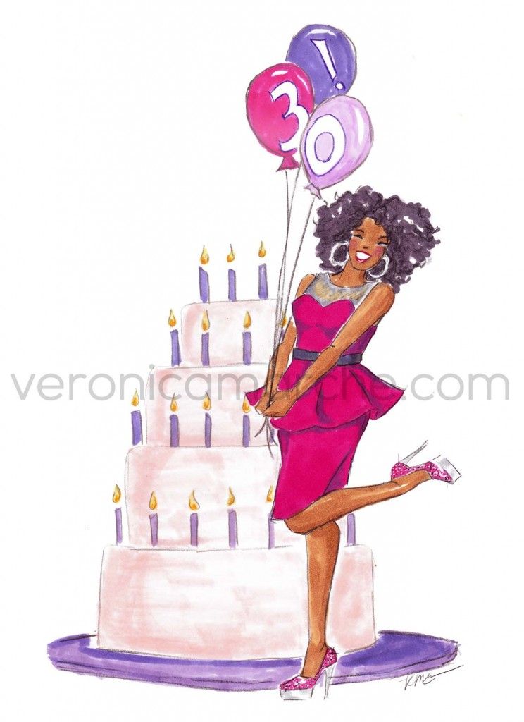 Tara's Birthday Invitation Illustration by Veronica Marché